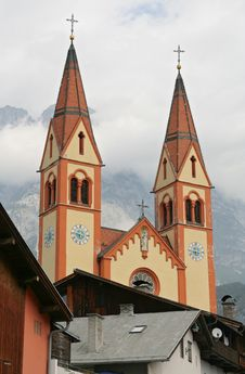 Free Church In Mountains Stock Image - 3167551