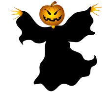 Flying Jack O Lantern Witch Royalty Free Stock Images