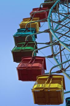 Free Old Ferris Wheel At Moscow Stock Photo - 3168200