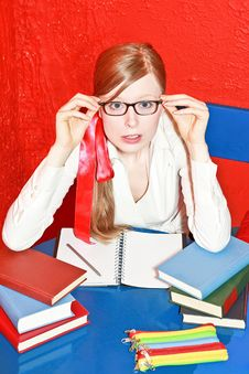 Free Pupil With Glasses Stock Photos - 3169463