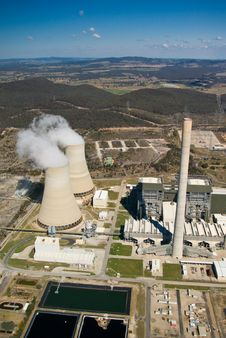 Free Power Station:Aerial View Stock Image - 3169681
