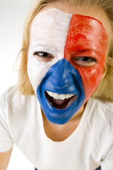 Free Mad Czechish Supporter Royalty Free Stock Image - 3169716