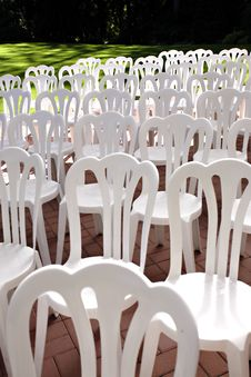 Free White Chairs Royalty Free Stock Photo - 3169725