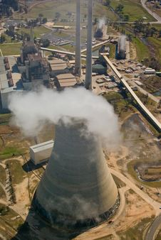 Free Power Station:Aerial View Royalty Free Stock Images - 3169879