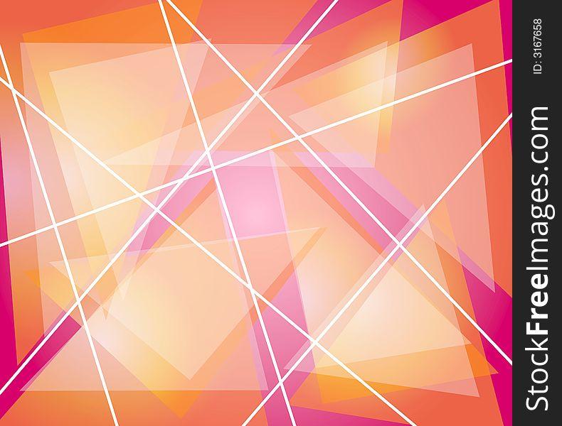 Pink Orange Triangles Lines
