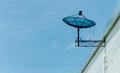 Free Black Satellite Dish On Roof Royalty Free Stock Photo - 31608625