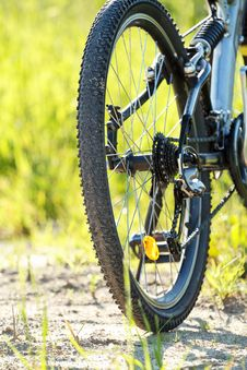 Detail Of Bike Parked In A Meadow Stock Photos