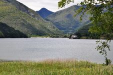 Free Lago Di Ledro With Hotel, Italy Stock Image - 31602201