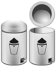 Free Metal Trash Can Stock Photo - 31603130