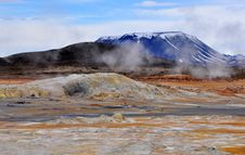 Free Geothermal Area And Mountain Stock Photography - 31604562