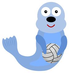 Free Seal Volleyball Royalty Free Stock Images - 31604849
