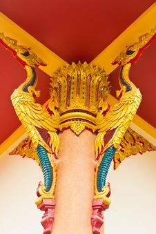 Free Thai Pattern Decorative Roof Suspension Royalty Free Stock Photography - 31605027