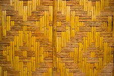 Bamboo Wall And Background Stock Photography