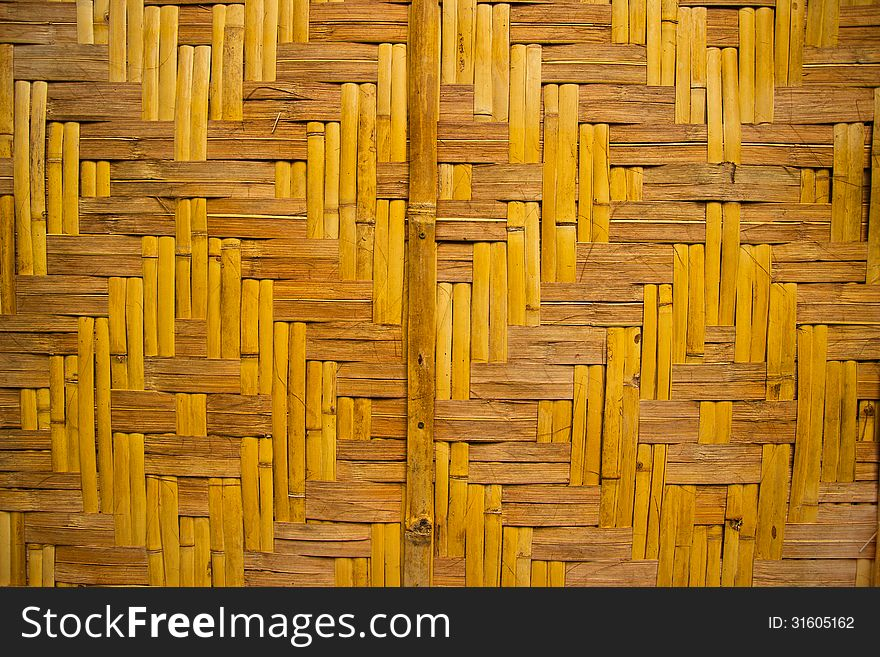 Bamboo wall and background