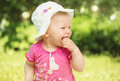 Free Little Baby Girl In The Garden Stock Image - 31611951
