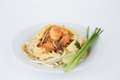 Free Stir-fired Rice Noodle With Prawns Stock Image - 31612011