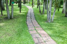 Free Brickbat Path Stock Photography - 31611572