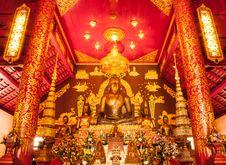 Free Golden Buddha Sculptur Royalty Free Stock Photos - 31612978