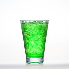 Free Green Fruit Flavour Soft Drinks Whit Soda Water Stock Photo - 31618080