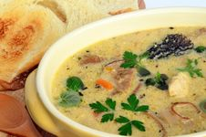 Free Wild Mushrooms Cream Soup 3 Royalty Free Stock Image - 31619036
