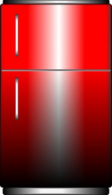 Free Red Refrigerator Royalty Free Stock Photos - 31619228