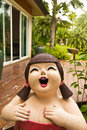 Free Lady Statue Good-humored Royalty Free Stock Photography - 31626187