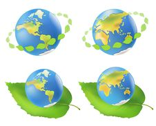 Free Earth With Leaves. Eco Royalty Free Stock Photo - 31622985