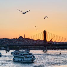 Free The Golden Horn And Cityscape At Sunset, Istanbul Stock Photos - 31629523