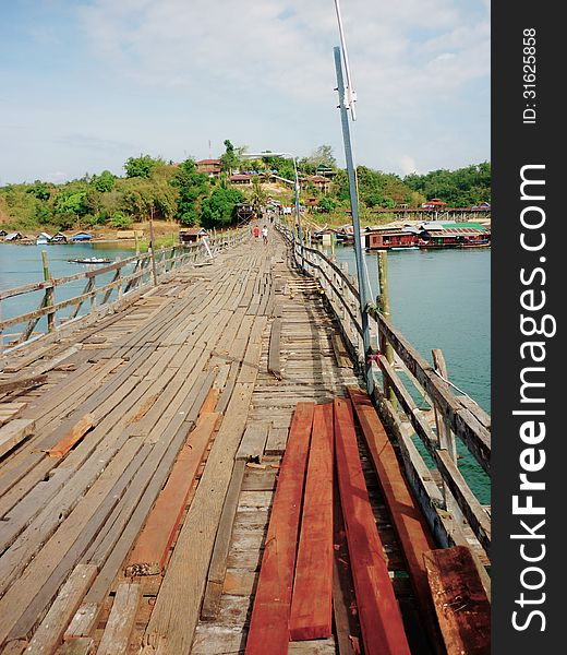 Wooden Mon Bridge  Thai Architecture