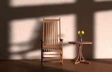 Free Light And Shadow Chair Royalty Free Stock Photography - 31630987
