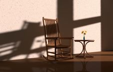 Free Light And Shadow Chair Stock Photo - 31631000