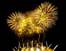 Free Colorful Fireworks Of Various Colors Over Night Sky Royalty Free Stock Photography - 31633137