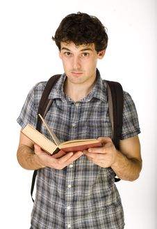 Free Young Happy Student Carrying Bag And Books Stock Images - 31635704