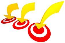 Free Three Arrow To The Target Stock Image - 31637931