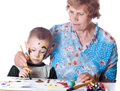 Free Grandmother And Grandson Royalty Free Stock Image - 31642166