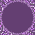 Free Round Violet Frame Royalty Free Stock Photography - 31645147