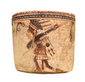 Free Ancient Mayan Pottery Vessel Isolated Stock Image - 31645711