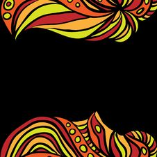 Free Abstract Orange Borders On Black Royalty Free Stock Image - 31645226