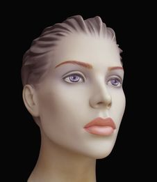 Free Face Of A Mannequin Isolated Stock Image - 31645581