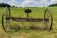 Rusty Harrow Plow Back Royalty Free Stock Images