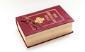 Free Red And Gold Bible And Reading Glasses Royalty Free Stock Photo - 31653355