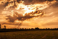Free Cloudy Sunset Royalty Free Stock Photos - 31658738