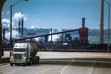 Free The Heavy Truck Riding From Industrial Plant Stock Photography - 31653202