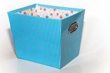 Free Isolated Light Blue Box Royalty Free Stock Photo - 31653395