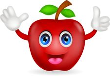 Free Red Apple Cartoon Royalty Free Stock Photos - 31654798