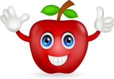 Free Red Apple Cartoon Stock Photography - 31654842