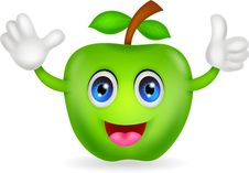 Free Green Apple Cartoon Royalty Free Stock Photography - 31654977