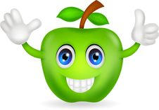 Free Green Apple Cartoon Stock Photography - 31655002