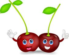 Free Cherries Cartoon Couple Stock Image - 31655021