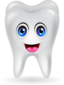 Free Happy Tooth Cartoon Royalty Free Stock Photo - 31655135